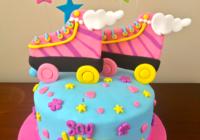 Pastel de soy Luna para cumpleaños de niñas